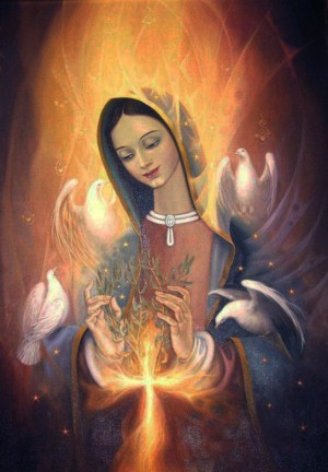Resultado de imagen para María hizo terrestre aquel que era celeste