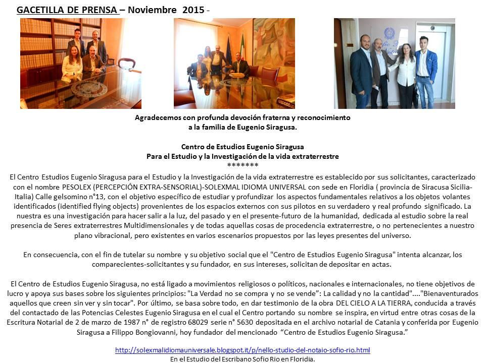 gacetilla de prensa español noviembre 2015