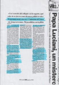 Papa Luciani, un mistero (1)
