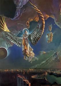 Las alas de la Gran Águila protegen la Mujer