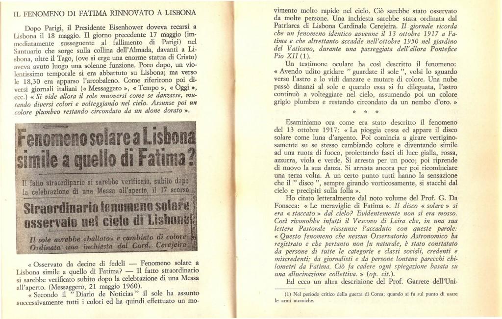 Fenomeno Solare come Fatima a Lisbona alla presenza di Eisenhower 1
