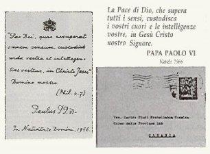 Lettera Paolo VI a Eugenio