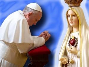 Papa Francesco e la Madonnina di Fatima