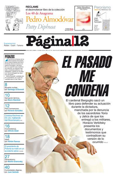 El Pasado me condena Jorge Bergoglio