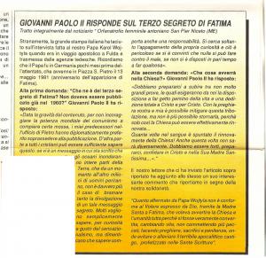 Fatima e Giovanni Paolo II