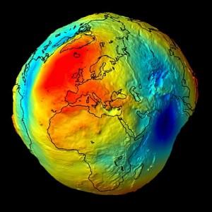 Il geoide che rappresenta la forma della terra