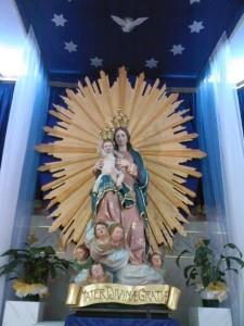 La Madonna delle Grazie a Comiso (Rg)  con il Sole