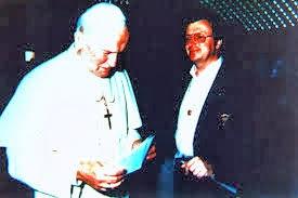 Pier Andrè Modoux, giornalista svizzero e Giovanni Paolo II per il messaggio di Fatima n° 1