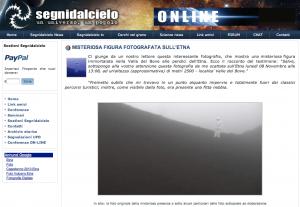 segnidalcielo misteriosa figura fotografata sull Etna