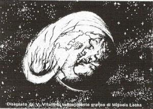 L asteroide disegno di Vito sotto indicazione di Michela
