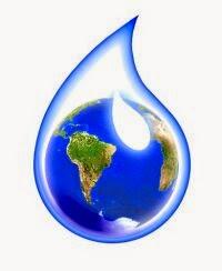 Una goccia d'acqua il pianeta Terra nell'universo oceanico